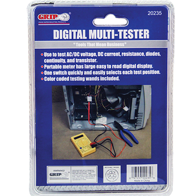 GRIP-ON DIGITAL MULTI-METER 19 RANGE 20235 - 49-6122-20235 - Item Photo