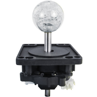50-0099-00 - ICE Harpoon Lagoon 43MM 2-Way Ultimate Joystick w/ clear Bubbly Ball Knob