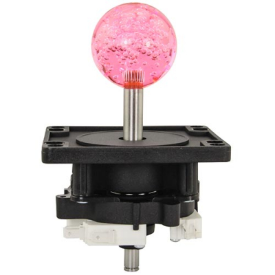 4-Way Ultimate Joystick with 43MM Pink Bubbly Ball Knob - 50-0101-04 - Item Photo