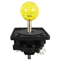 50-0103-00 - ICE Harpoon lagoon 43MM 2-Way Ultimate Joystick w/ Yellow Bubbly Ball Knob