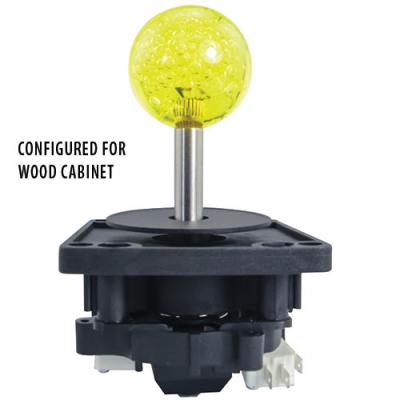 2-Way Ultimate Joystick with 43MM Yellow Bubbly Ball Knob - 50-0103-00 - Item Photo