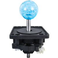 50-0105-00 - ICE Harpoon lagoon 43MM 2-Way Ultimate Joystick w/ blue bubbly Ball knob