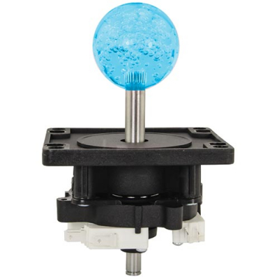 4-Way Ultimate Joystick with 43MM Blue Bubbly Ball Knob - 50-0105-04 - Item Photo