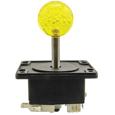 4-Way Super Joystick with 43MM Yellow Bubbly Ball Knob - 50-0111-00 - Item Photo