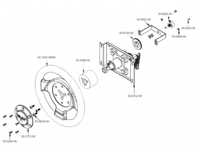 270� Soft Hoop Steering Wheel with Potentiometer - 50-2838-00 - Exploded View