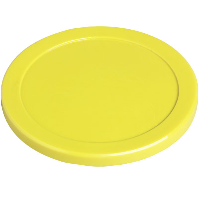 "Dynamo Air Hockey 3-1/4"" Yellow Puck - 51-0100-B - Item Photo"