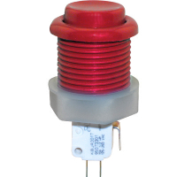 53-9200-10 - Red Ultimate Pushbutton w/ .187 microswitch