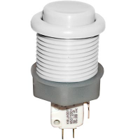 53-9200-11 - White Ultimate Pushbutton w/ .187 microswitch