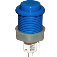 53-9200-12 - Blue Ultimate Pushbutton w/ .187 microswitch