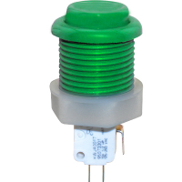 53-9200-13 - Green Ultimate Pushbutton w/ .187 Microswitch