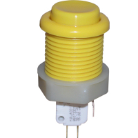 53-9200-15 - Yellow Ultimate Pushbutton w/ .187 microswitch