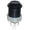 Black Ultimate Pushbutton w/ .187 microswitch - 53-9200-16