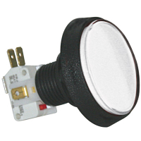 D54-0004-11 - White large round IPB Lamp w/.250 Microswitch #161