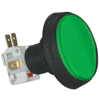 D54-0004-13 - Green Large Round IPB Lamp w/.250 Microswitch #161