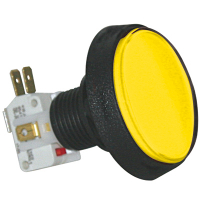 D54-0004-15 - Yellow Large Round IPB Lamp w/.250 Microswitch #161