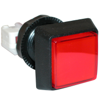 D54-0004-30 - Red Large Square IPB Lamp w/ .250 Microswitch #161