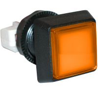 D54-0004-37 - Amber/orange Large Square IPB w/ .250 Microswitch #161
