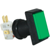 Rectanglar Green IPB, 14V #161 Lamp, .250 Microswitch - D54-0004-53