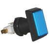 "Illuminated Blue Pushbutton, ""Ski Hi- View 3"", Rectangular - 20-10127-3"