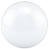 "3"" solid white trackball - 55-0200-11"