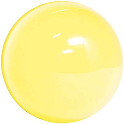 "3"" yellow translucent trackball - 55-0200-15T - Item Photo"