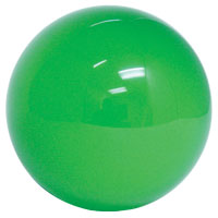 "3"" solid green trackball - 55-0200-13 - Item Photo"