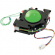 "3"" Green Translucent High-Ball Trackball Assembly with Standard Harness - 56-0110-13T"