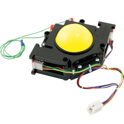 "3"" yellow High-Ball Trackball assembly  - 56-0110-15 - Item Photo"
