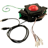 "3"" solid red Trackball assembly w/ USB & PS/2 Interface  - 56-0300-10"
