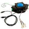"3"" solid blue Trackball assembly w/ USB & PS/2 interface - 56-0300-12"