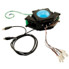 "3"" Blue Translucent Trackball Assembly with USB PS/2 Interface & Cable 12V - 56-0300-12TI12"