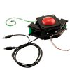 "2-1/4"" solid black Trackball assembly w/ USB & PS/2 Interface - 56-5600-16"