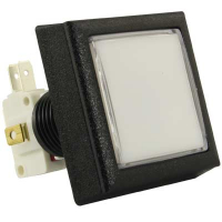 57-0004-31 - White Large Square Low Profile IPB lamp w/. 250 microswitch #161