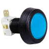 Blue Medium Round Low Profile Illuminated Pushbutton w/ .250 microswitch - 57-0004-62