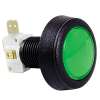 Green Medium Round Low Profile IPB lamp w/ .250 microswitch - 57-0004-63