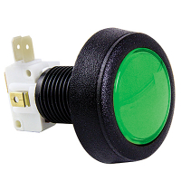 57-0004-63 - Green Medium Round Low Profile IPB lamp w/ .250 microswitch #161