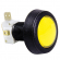 Yellow Medium Round Low Profile IPB w/ .250 microswitch  - 57-0004-65