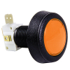 Amber orange Medium Round Low Profile IPB lamp w/.250 microswitch #161  - 57-0004-67
