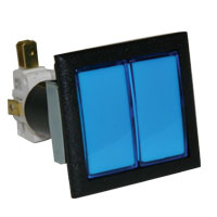 Blue large square low profile Dual IPB w/. 250 microswitch #161 - 57-0004-D322 - Item Photo