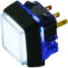 Snap-Tab Small Square Illuminated Pushbutton with Halo - 57-1818-02