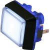 Snap-Tab Rectangle Illuminated Pushbutton with Halo - 57-1819-02