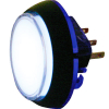White 12V Round snap-tab IPB w/ white legend - 57-1820-02