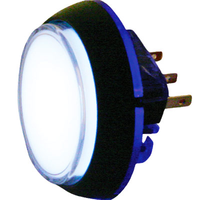12V Round Illuminated Snap-Tab Pushbutton with Halo - 57-1820-02 - Item Photo