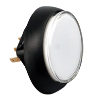 57-1940-02 - Snap-Tab Oval Illuminated Pushbutton assembly w/o Halo