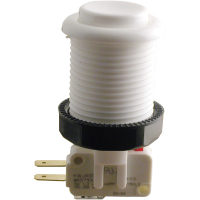 58-9111-L - White Pushbutton w/ .187 Horizontal Microswitch