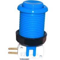 58-9122-L - Blue Pushbutton w/ .187 Horizontal Microswitch