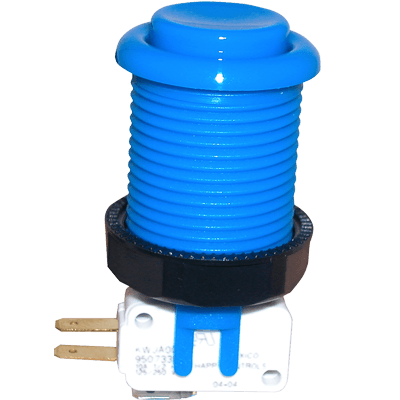 Blue Pushbutton w/ .187 Horizontal Microswitch - 58-9122-L - Item Photo