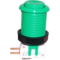58-9133-L - Green Pushbutton w/ .187 Horizontal Microswitch