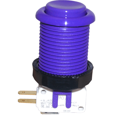 Purple Pushbutton with Horizontal Microswitch - 58-9144-L - Item Photo