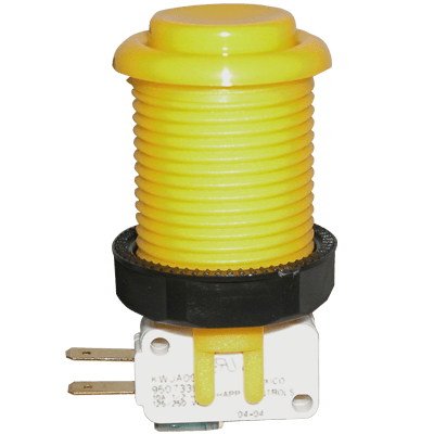 Yellow Pushbutton w/ .187 Horizontal Microswitch - 58-9155-L - Item Photo